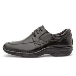Sapato Masculino Conforto Em Couro Legítimo Preto - D&R SHOES