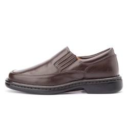 Sapato Masculino Antistafa em Couro Legitimo Café - D&R SHOES