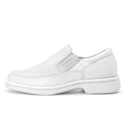 Sapato Masculino Antistafa em Couro Legitimo Branco - D&R SHOES