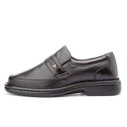 Sapato Masculino Antistafa em Couro Legitimo Preto... - D&R SHOES