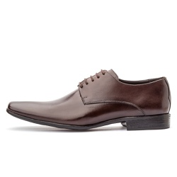 Sapato Social Masculino De Amarrar Em Couro Legíti... - D&R SHOES