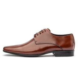 Sapato Social Masculino De Amarrar Em Couro Legítimo Whisky - D&R SHOES