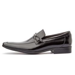 Sapato Social Masculino Em Couro Legítimo Preto - D&R SHOES