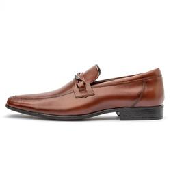 Sapato Social Masculino Em Couro Legítimo Whisky - D&R SHOES