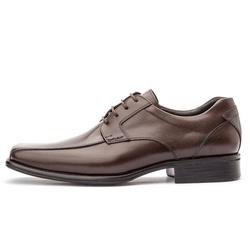 Sapato Social Masculino Premium Em Couro Legítimo Café - D&R SHOES