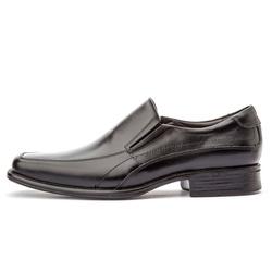 Sapato Social Masculino Bico Quadrado Em Couro Legítimo Preto - D&R SHOES