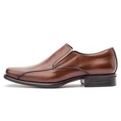 Sapato Social Masculino Bico Quadrado Em Couro Legítimo Whisky - D&R SHOES