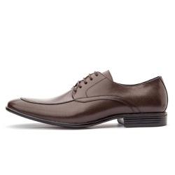 Sapato Social Masculino De Amarrar Em Couro Legítimo Café - D&R SHOES