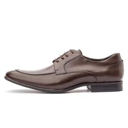Sapato Social Masculino Brogue Em Couro Legítimo Café - D&R SHOES
