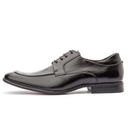 Sapato Social Masculino Brogue Em Couro Legítimo Preto - D&R SHOES