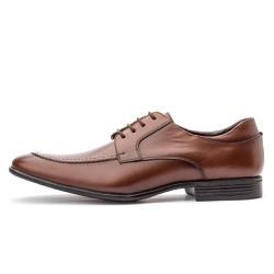Sapato Social Masculino Brogue Em Couro Legítimo Whisky - D&R SHOES