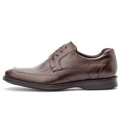 Sapato Social Masculino Conforto Em Couro Legítimo Café - D&R SHOES
