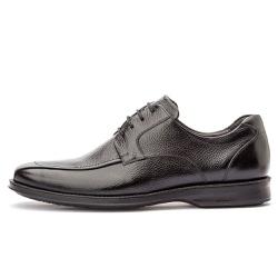 Sapato Social Masculino Conforto Em Couro Legítimo Preto - D&R SHOES