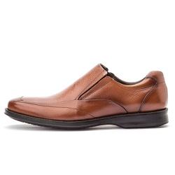 Sapato Social Masculino Conforto Em Couro Legítimo Whisky - D&R SHOES