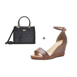 Kit Sandalia Feminina DER Shoes em Couro Legitimo... - D&R SHOES