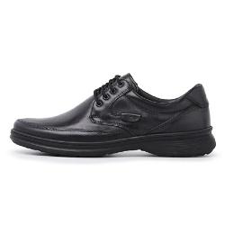 Sapato Masculino Conforto em Couro Carneiro Legitimo Luflex Cafe - D&R SHOES