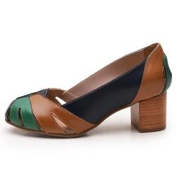 Sapato Feminino Retrô Bahamas Em Couro Legítimo Ma... - D&R SHOES