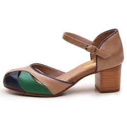Sapato Feminino Retrô Bahamas Em Couro Legítimo Ve... - D&R SHOES