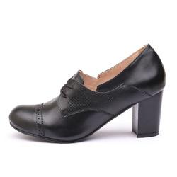 Sapato Feminino Retrô Paris Em Couro Legítimo Preto - D&R SHOES