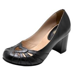 Sapato Feminino Couro Legítimo Preto Linha Retro - D&R SHOES