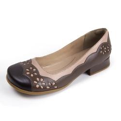 Sapato Feminino Lis Bela Couro Cafe Tabaco Pele - ... - D&R SHOES