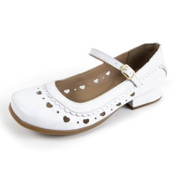 Sapato Feminino Lis Bela MZ Couro Branco - D&R SHOES