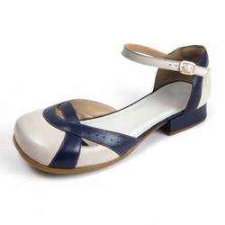 Sapato Feminino Lis Bela MZ Couro Off White Indigo... - D&R SHOES