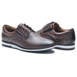 Sapato Casual Masculino NV Couro Legitmo Cafe - 86... - D&R SHOES