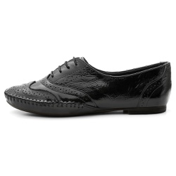 Sapato Oxford FemininoeEm Couro Legítimo Confort P... - D&R SHOES