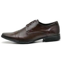 Sapato Social Masculino em Couro Legitimo Soft Café - D&R SHOES