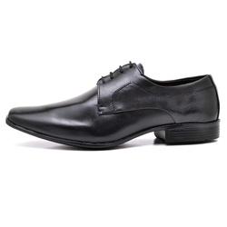 Sapato Social Masculino em Couro Legitimo Soft Preto - D&R SHOES