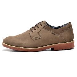 Sapato Masculino Oxfordd em Couro Legitimo Bege - ... - D&R SHOES
