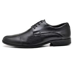 Sapato Social Masculino em Couro Legitimo Soft Pre... - D&R SHOES