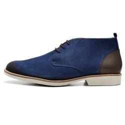 Sapato Masculino Oxford em Couro Legitimo Marinho ... - D&R SHOES