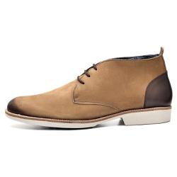 Sapato Masculino Oxford em Couro Legitimo Bege - D&R SHOES