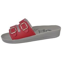 Sandália Conforto Vermelha 2 Fivelas - D&R SHOES