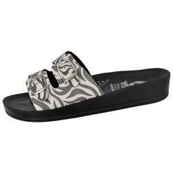Sandália Conforto Zebra 2 Fivelas - D&R SHOES