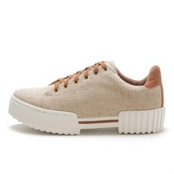 Tênis feminino casual sola alta SB Shoes Bege - t-... - D&R SHOES