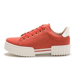 Tênis feminino casual sola alta SB Shoes Coral - t... - D&R SHOES