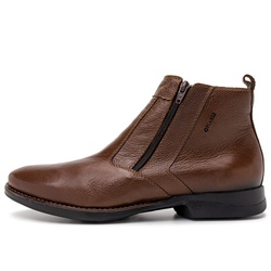 Bota Masculina Casual Delta Em Couro Brown - D&R SHOES