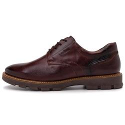 Sapato Casual Masculino Michigan Em Couro Fumê Vinho - D&R SHOES
