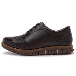 Sapato Casual Masculino Oregon Em Couro Comfort Fumê Chocolate - D&R SHOES