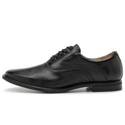 Sapato Social Masculino Parma De Amarrar Em Couro Comfort Preto - D&R SHOES