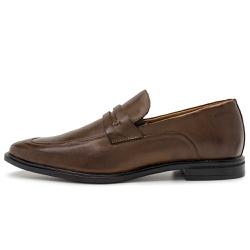 Sapato Social Masculino Parma Em Couro Comfort Café - D&R SHOES