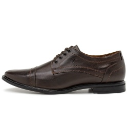 Sapato Social Masculino Parma De Amarrar Em Couro Comfort Chocolate - D&R SHOES