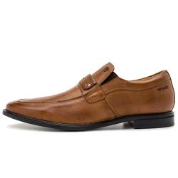 Sapato Social Masculino Parma Em Couro Comfort Canela - D&R SHOES