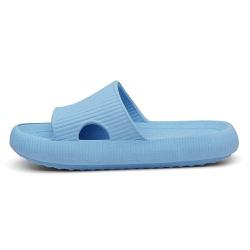 Chinelo Nuvem Slide Flexivel Confortável Azul - D&R SHOES
