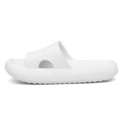 Chinelo Nuvem Slide Flexivel Confortavél Branco - D&R SHOES