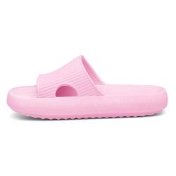 Chinelo Nuvem Slide Flexivel Confortável Rosa Bebe - D&R SHOES