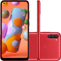 Smartphone Samsung Galaxy A11 64GB -Vermelho - 017 - DISTRIBUIDORDECELULARES